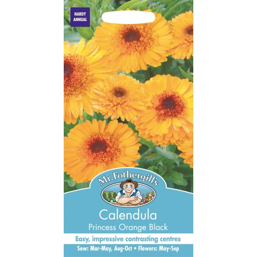 Seminte CALENDULA officinalis Princess Orange Black - Galbenele