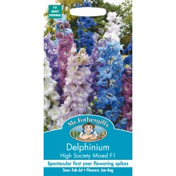 Seminte DELPHINIUM cultorum High Society Mixed F1 - Nemtisor