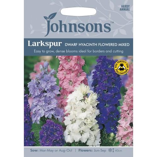 Seminte DELPHINIUM consolida (Larkspur) Dwarf Hyacinth Flowered Mix - Nemtisor annual