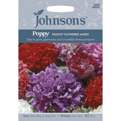Seminte PAPAVER somniferum-Poppy- Paeony Flowered Mixed - Mac