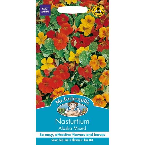Seminte TROPAEOLUM-Nasturtium- majus Alaska Mixed - Caltunasi cu frunze variegate