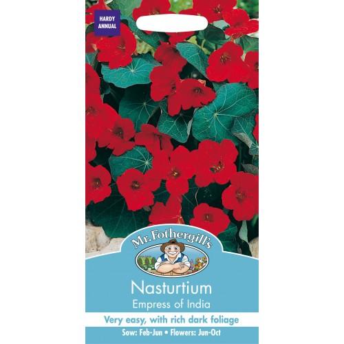 Seminte TROPAEOLUM-Nasturtium- majus Empress of  India - Caltunasi flori rosii