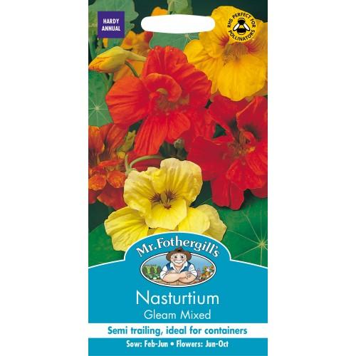 Seminte TROPAEOLUM-Nasturtium- majus Gleam Mixed - Caltunasi batuti comestibili