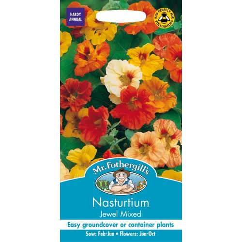 Seminte TROPAEOLUM-Nasturtium- majus Jewel Mixed  - Caltunasi comestibili