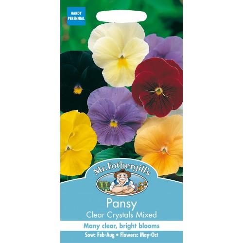 Seminte VIOLA wittrockiana Clear Crystal Mixed - Panselute culoare simpla
