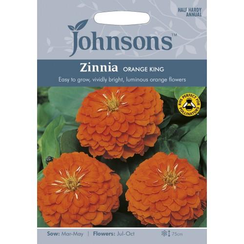 Seminte ZINNIA elegans Orange King - Carciumarese cu flori mari