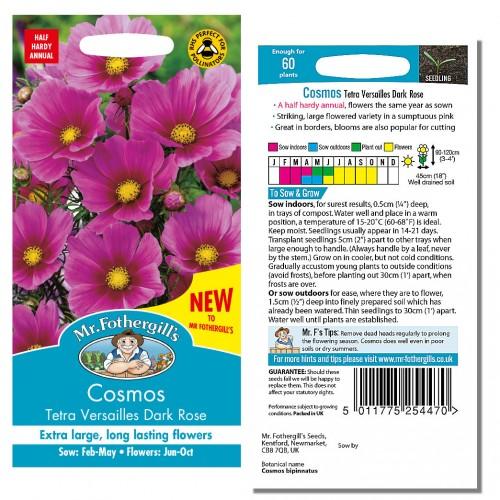 Seminte COSMOS bipinnatus Tetra Versailles Dark Rose-Mararite