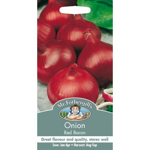 Seminte ALLIUM cepa-Onion- Red Baron  - Ceapa rosie rotunda de iarna