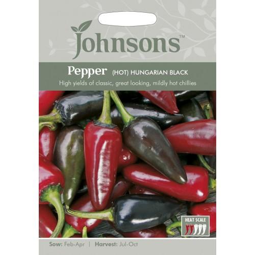 Seminte CAPSICUM annuum-Hot Pepper-Hungarian Black - Ardei iute