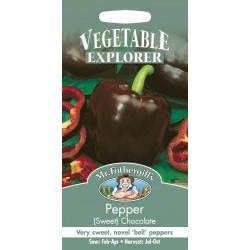 Seminte CAPSICUM annuum-Sweet- Chocolate  - Ardei gras maro