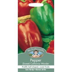 Seminte CAPSICUM annuum-Sweet- California Wonder - Ardei gras rosu si verde