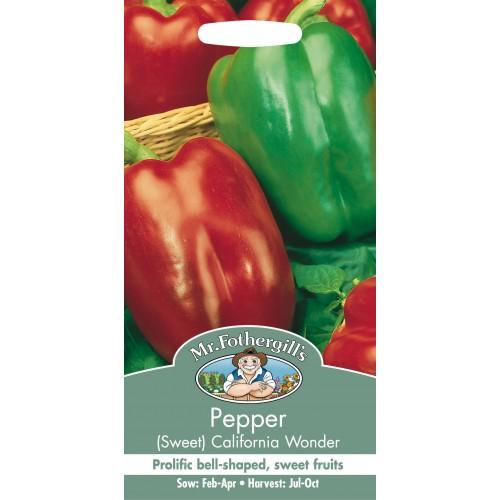 Seminte CAPSICUM annuum-Sweet Pepper-California Wonder - Ardei gras rosu si verde