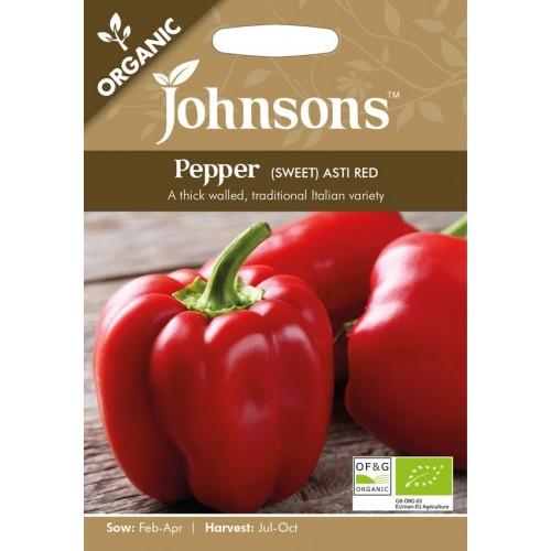 Seminte CAPSICUM annuum-Sweet Pepper-Asti Red ORG-Ardei gras rezistent la boli