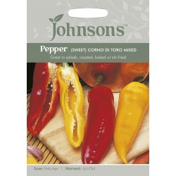 Seminte CAPSICUM annuum-Sweet Pepper-Corno di Torro  - Ardei capia rosu si galben