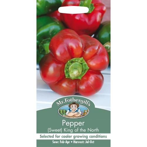 Seminte CAPSICUM annuum-Sweet Pepper-King of the North  - Ardei gogosar