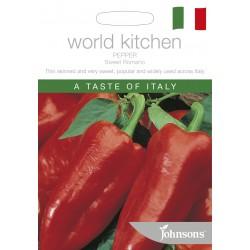 Seminte CAPSICUM annuum-Sweet Pepper-Sweet Romano  - Ardei capia rosu