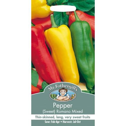 Seminte CAPSICUM annuum-Sweet Pepper-Romano Mixed  - Ardei capia amestec
