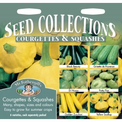 Seminte CUCURBITA Courgette & Summer Squash Collection - Colectie dovlecei -6 soiuri ambalate separat