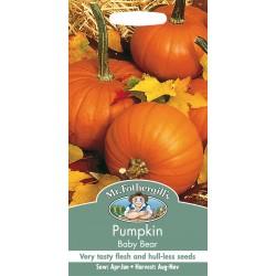 Seminte CUCURBITA pepo-Pumpkin- Baby Bear - Dovleac de placinta cu seminte fara coaja