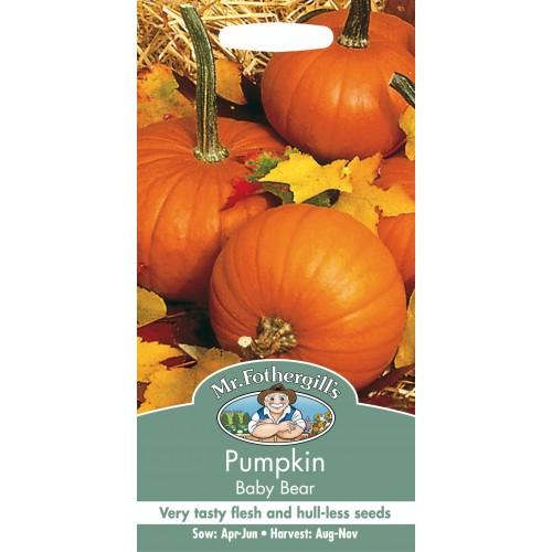Seminte CUCURBITA-Pumpkin - pepo Baby Bear - Dovleac de placinta cu seminte fara coaja