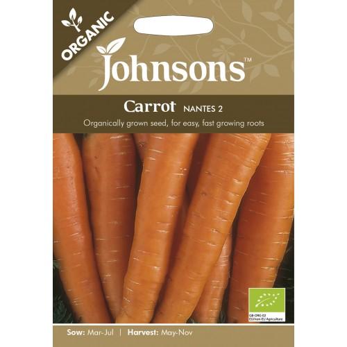 Seminte DAUCUS carota-Carrot-Nantes 2 ORG-Morcov cu seminte organice