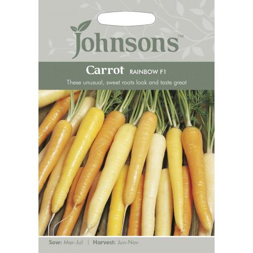 Seminte DAUCUS carota-Carrot-Rainbow F1 - Morcovi albi, galbeni, portocalii