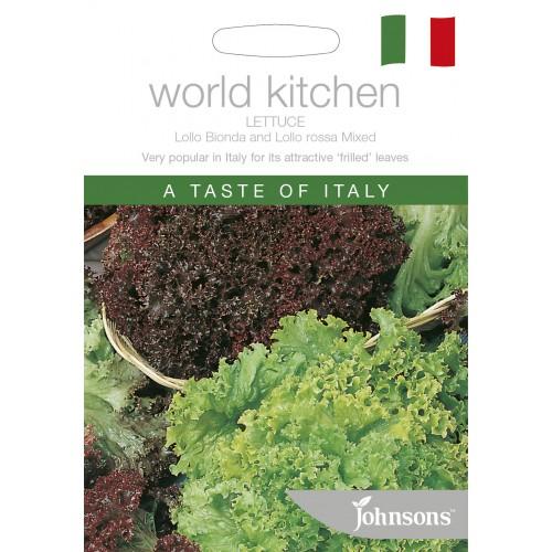 Seminte LACTUCA sativa-Lettuce-Lollo Bionda and Lollo Rossa Mixed - Salata creata, rosie si verde