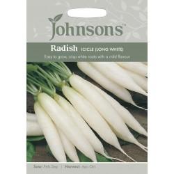 Seminte RAPHANUS sativus-Radish-Icicle (Long White) - Ridichi asiatice albe tolerante la caldura
