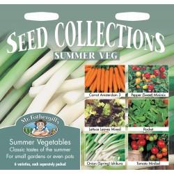 Seminte SUMMER VEGETABLES - Colectie cu: Morcovi, Ardei, Salata, Rucola, Ceapa si Tomate